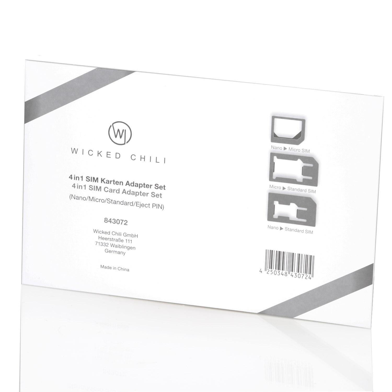wicked chili 4in1 simkarten adapter set f r handy tablet. Black Bedroom Furniture Sets. Home Design Ideas